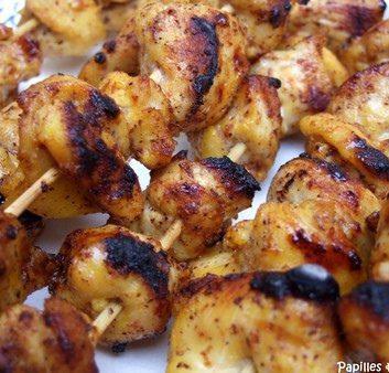 Chich taouk – Brochettes de poulet aux épices