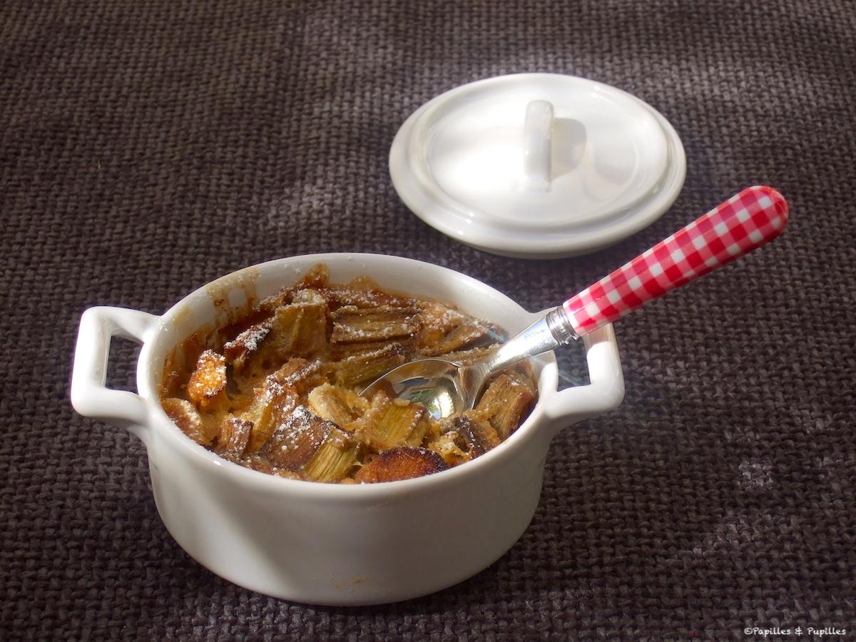 Clafoutis à la rhubarbe et à la farine 5 céréales et 3 graines