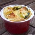 Clafoutis aux courgettes, olives noires et feta