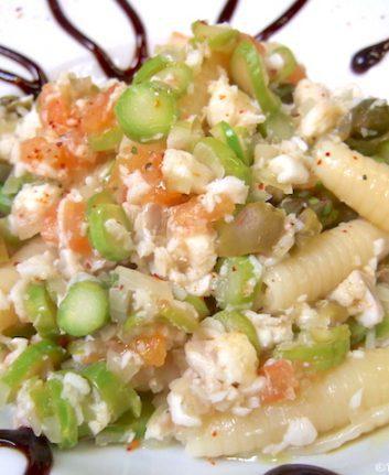 Wok de pâtes aux asperges