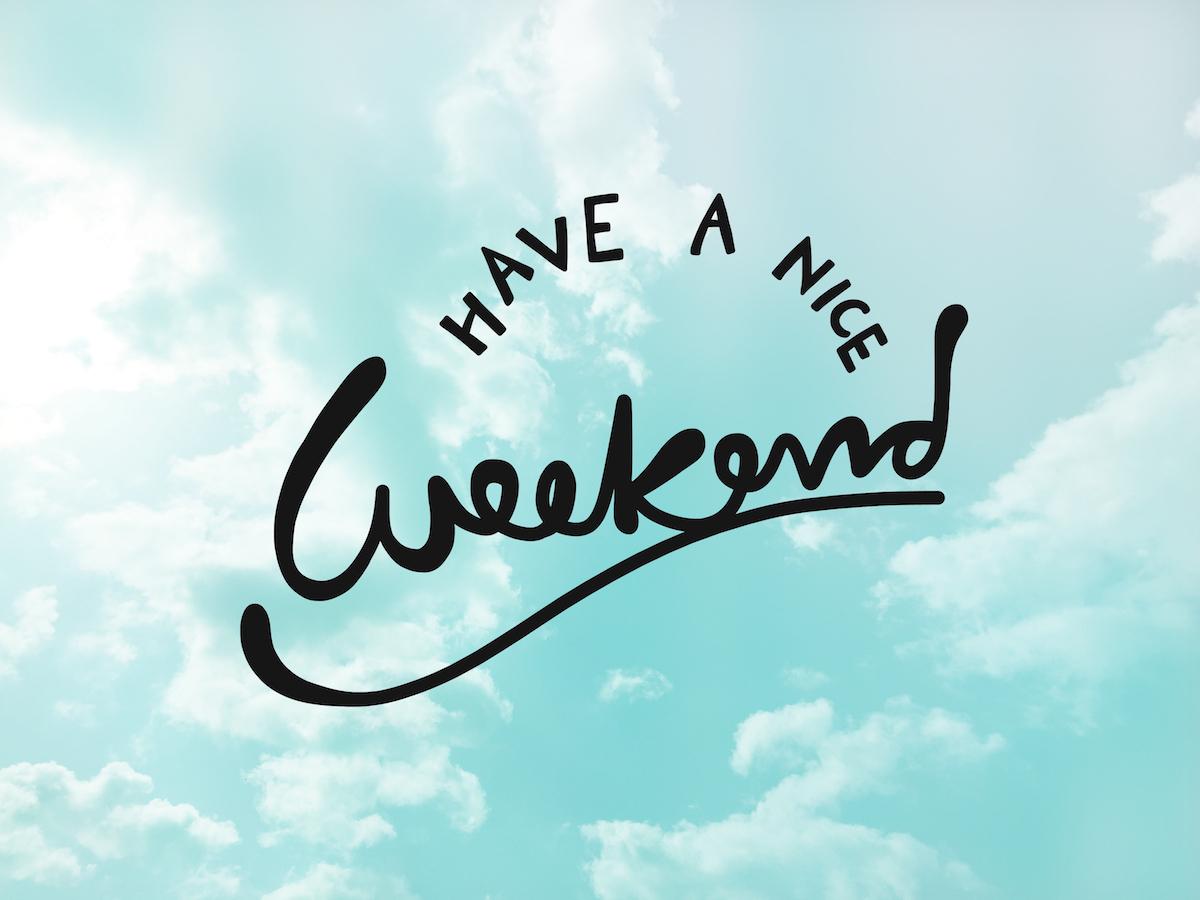 Bon weekend ©AmySachar shutterstock