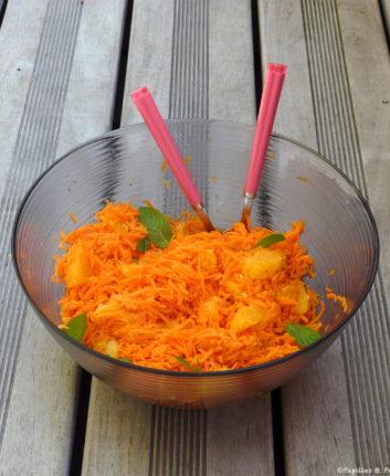 Carottes râpées au jus d'oranges et à l'eau de fleurs d'orangers