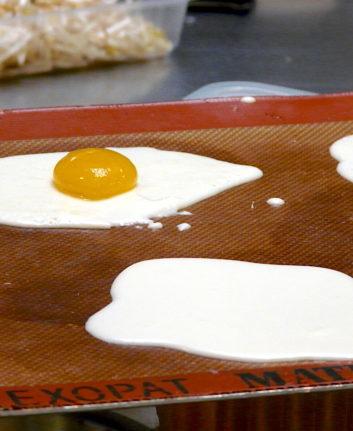 Cuisine moléculaire - oeuf au plat version sucrée