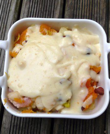 Gratin Potiron - Poires - Poireaux - Pommes de terre