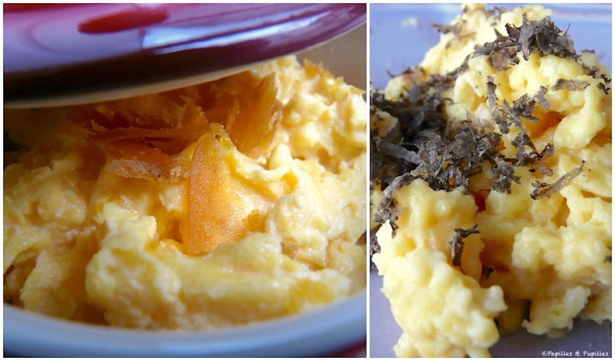 Oeufs brouillés à la poutargue et aux truffes