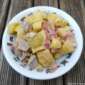 Salade de pommes de terre aux harengs fumés
