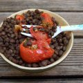 Salade de lentilles aux tomates confites