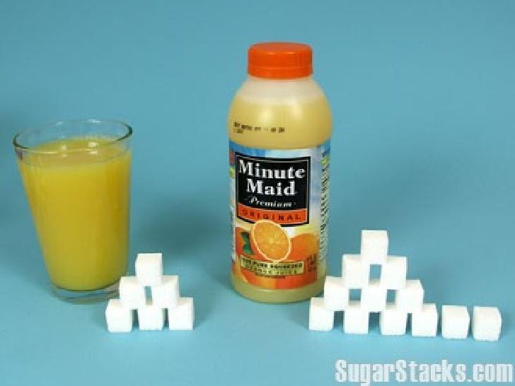 Combien de sucre dans le jus d'orange