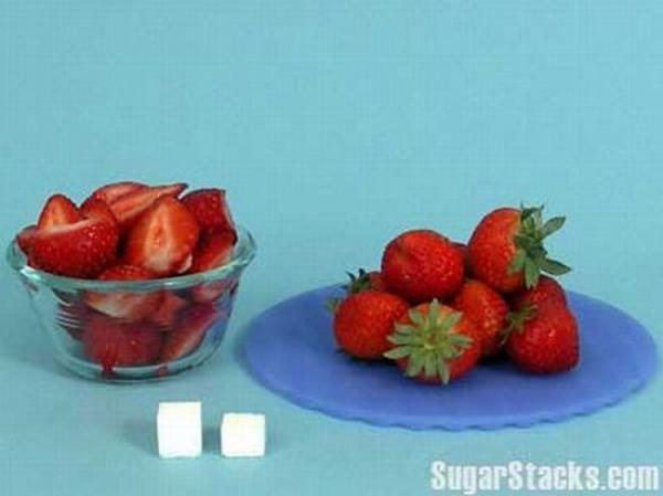 Combien de sucre dans les fraises