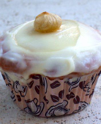 Cupcakes au miel, raisins secs et mascarpone