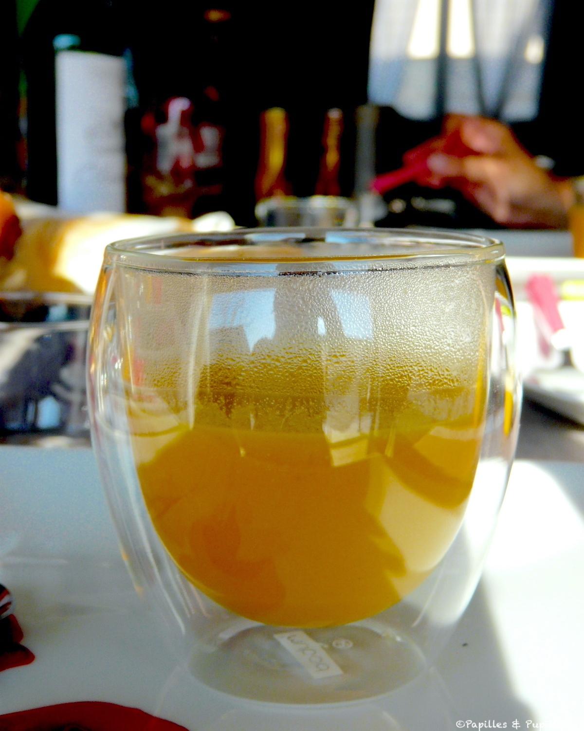 Soupe carotte curry lait de coco