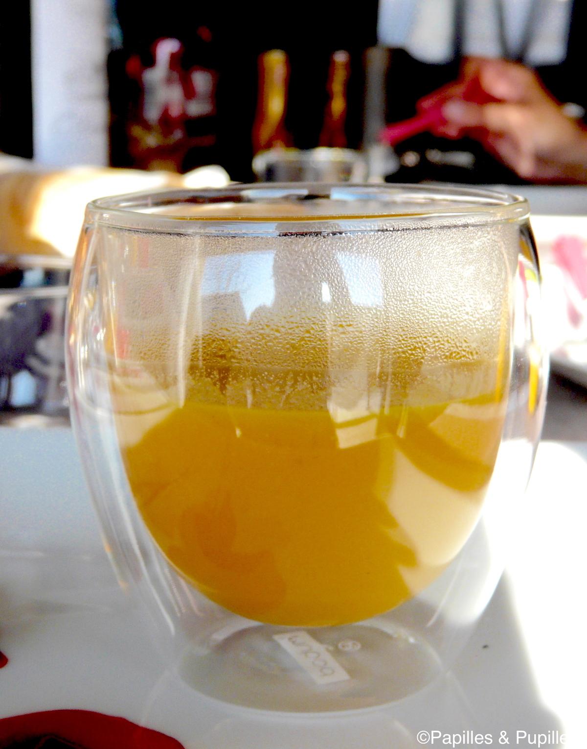 Soupe carottes curry lait de coco