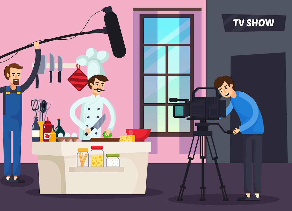 Cooking show ©Macrovector shutterstock