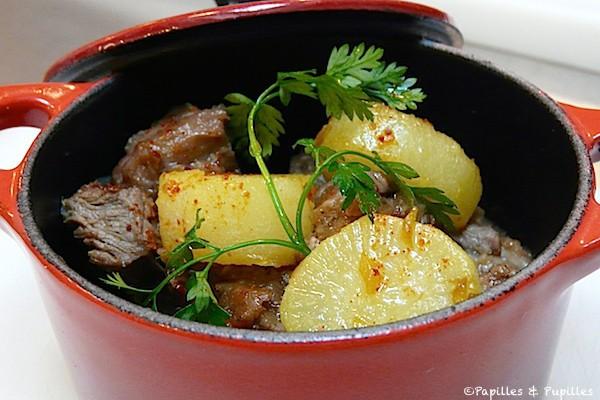 Tajine d'agneau aux 5 épices et navets glacés au gingembre et safran