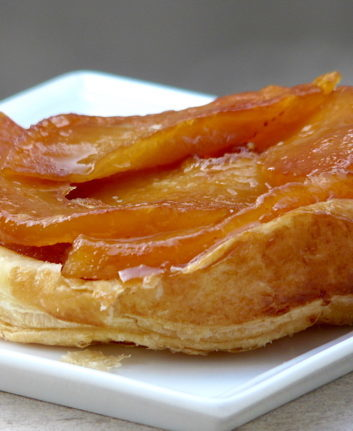 Tarte Tatin coing gingembre
