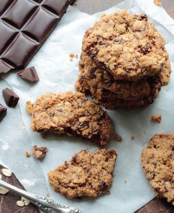 Cookies aux flocons d'avoine et pépites de chocolat © Bogdan Wankowicz shutterstock