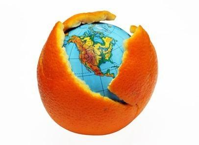 Terre dans une orange ©Vladimir Solovev - Fotolia