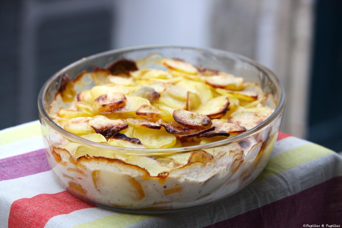 Gratin de pommes de terre sauce yakitori