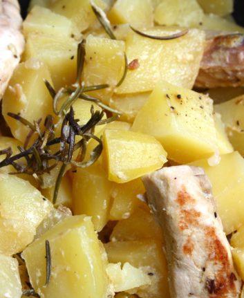 Lapin à la moutarde et aux pommes de terre