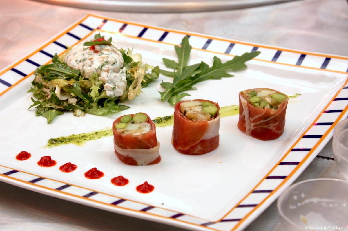 Makis de jambon de Bayonne aux petits légumes nouveaux