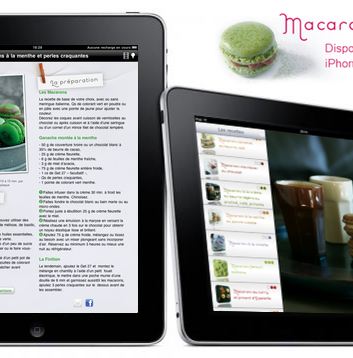 Application macarons mercotte pour Ipad et Iphone