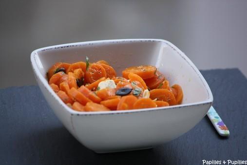 Salade de carottes à la feta et aux graines de courge