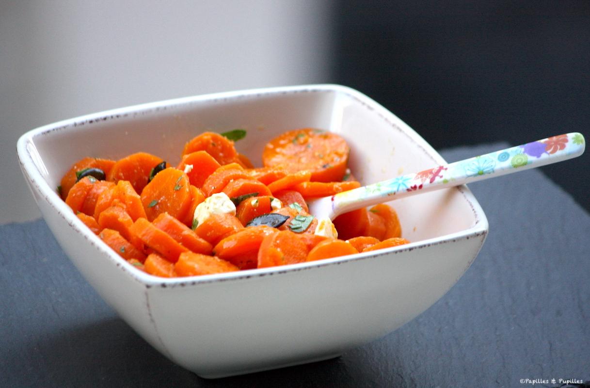 Salade de carottes à la féta et aux graines de courge