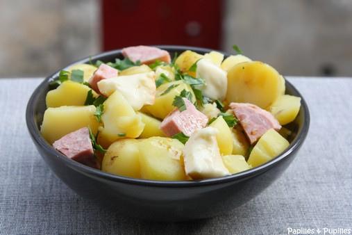 Salade paysanne aux pommes de terre de l'île de Ré et au Reblochon 2