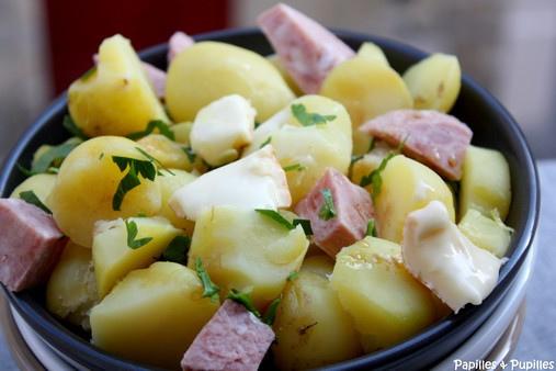 salade paysanne aux pommes de terre de l 39 le de r. Black Bedroom Furniture Sets. Home Design Ideas