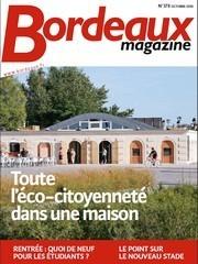 Couverture bordeaux magazine octobre 2010