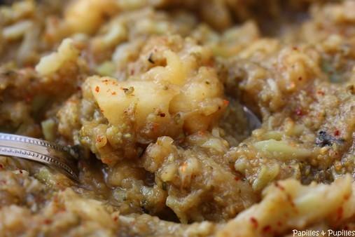 Purée de brocolis et Pommes Reinette - Gros plan