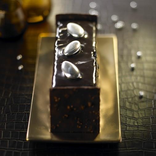 Bûche haute couture au chocolat