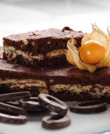 Brownie au chocolat et au petit beurre