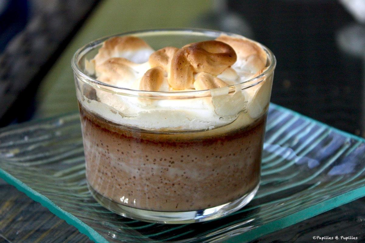 Crème au chocolat meringuée