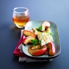 Filet de dorade au cidre et aux pommes