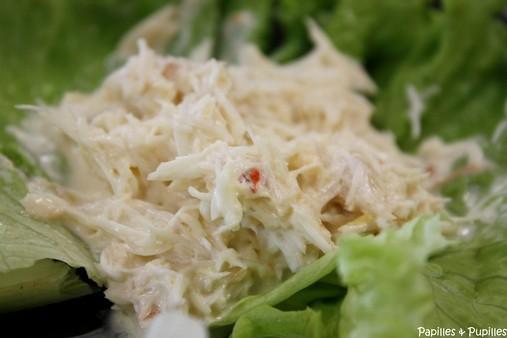 Salade de crabe au raifort de Donal