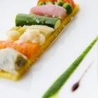 Variations de légumes, moelleux à la polenta de Jean Sulpice