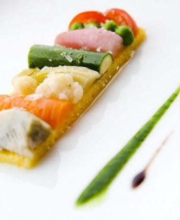 Variation de légumes, moelleux à la polenta