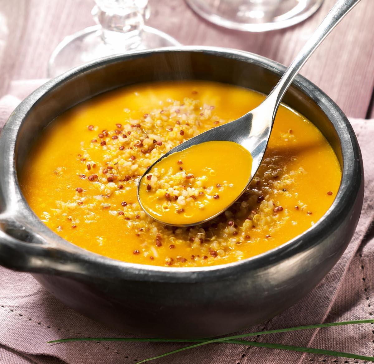 Velouté de potimarron au quinoa