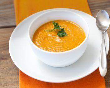 Soupe potimarron et châtaignes