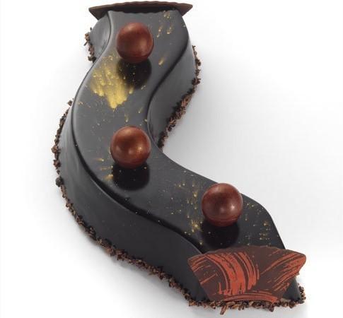 Bûche de Noël chocolat cassis - Abanico
