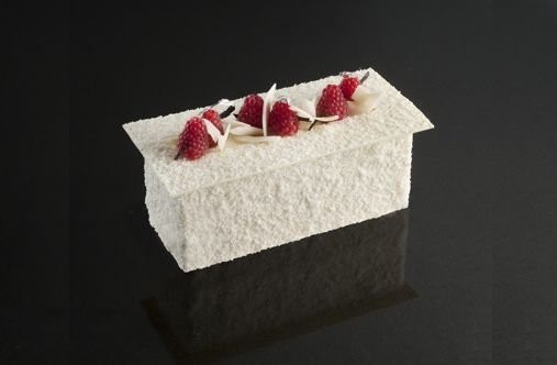 Bûche rose blanche - pain de sucre