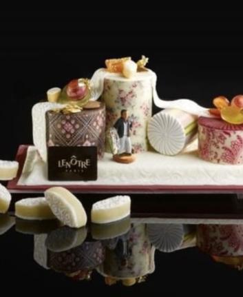 Bûche Provençale aux treize desserts : Christian Lacroix pour Lenôtre