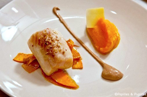 Dos de cabillaud, pulpe de courge butternut