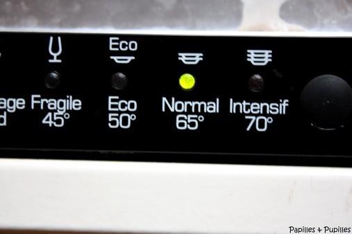 Saumon au lave vaisselle - Bouton lave vaisselle