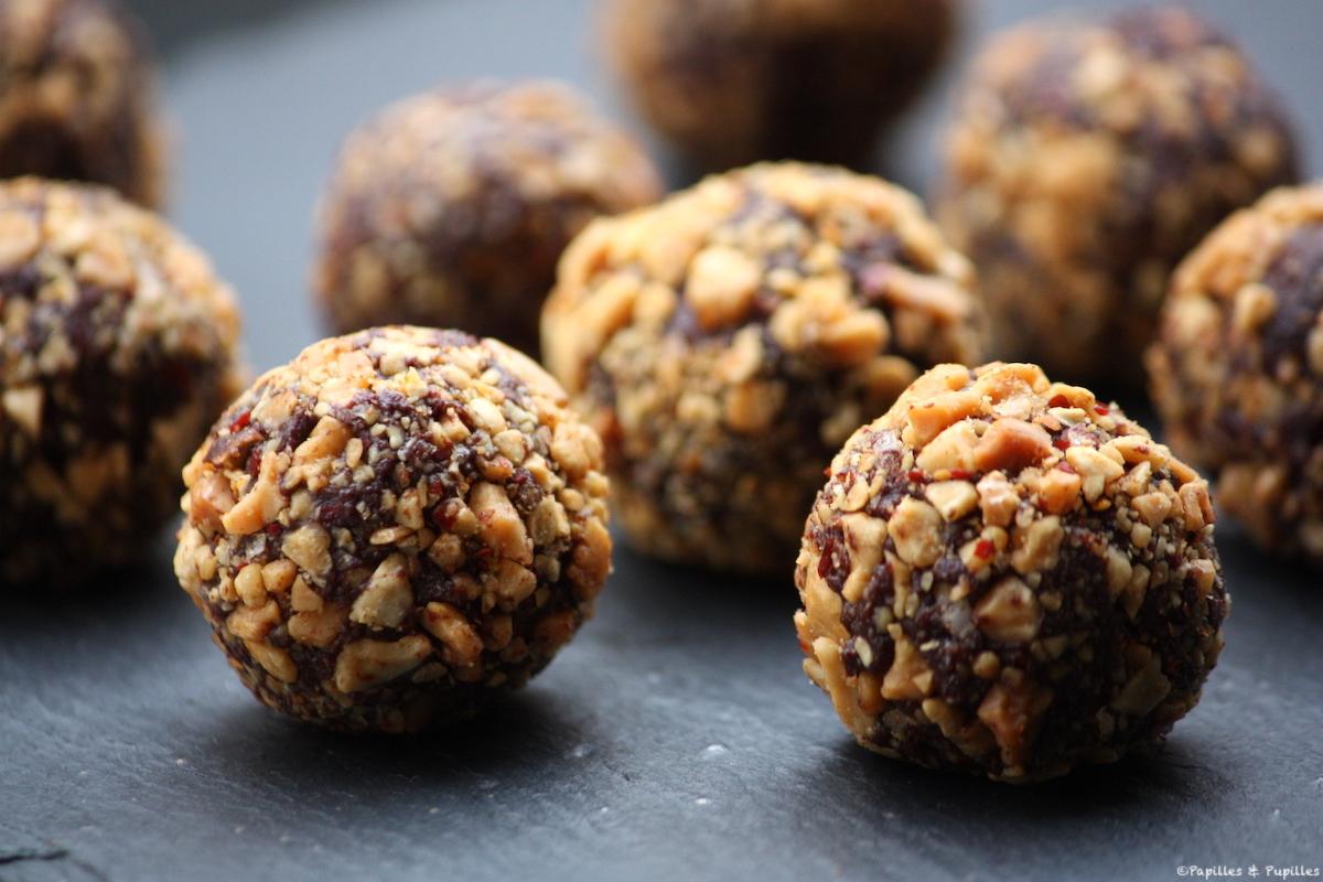 Truffes chocolat cacahuètes