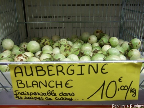 Aubergines blanches