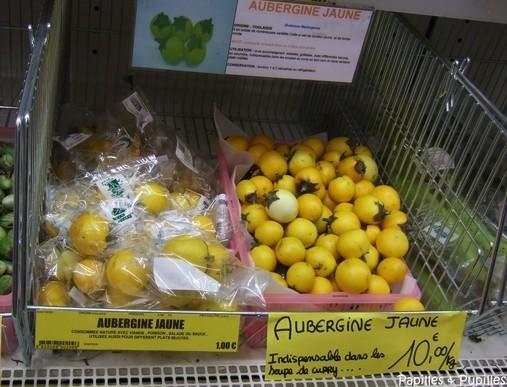 Aubergines jaunes