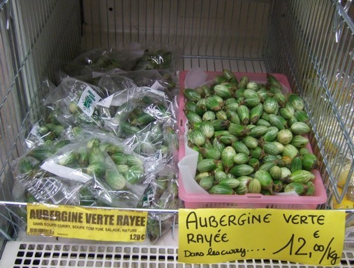 Aubergines vertes rayées