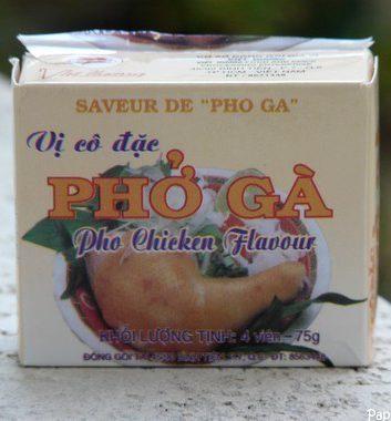 Bouillon cube vietnamien au poulet - pho ga